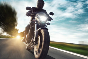 driving motorcycle